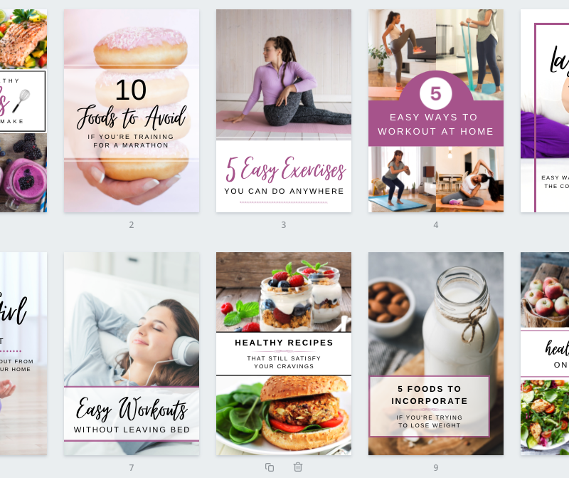 Pinterest Pins for Health & Wellness Business Pack 1