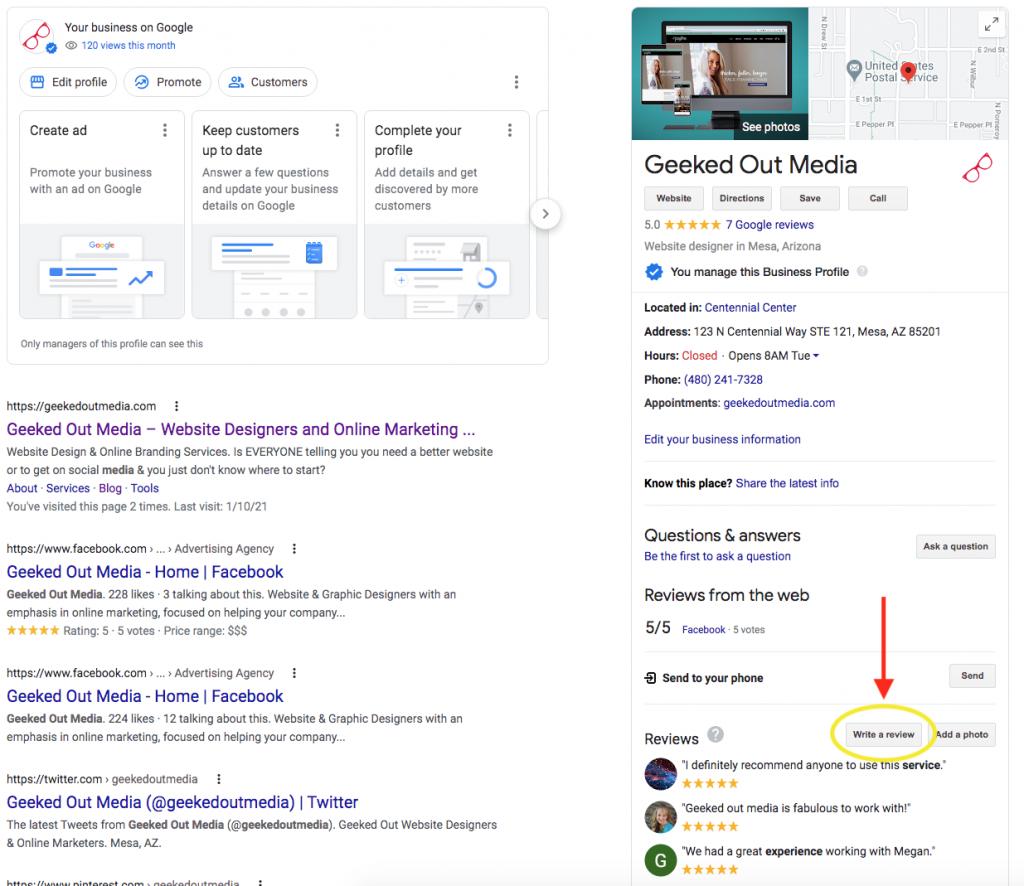 Google My Business Listing Set Up